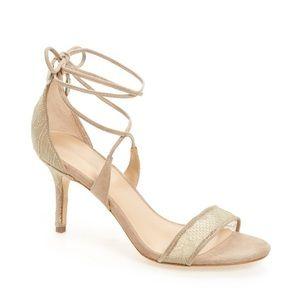 Pour La Victoire Zahara Lace-Up Sandal Taupe Lace